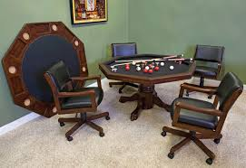 Game Table And Chairs Set 54 3 In 1 Gametable Set With 4 Optional Rocker Swivel Chairs