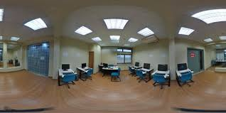 floor office. A Living Room Filled With Furniture And Flat Screen Tv Kitchen Refrigerator, Stove, Sink. Floor Office