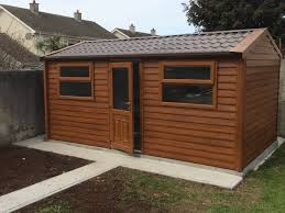 garden sheds woodgrain insulated