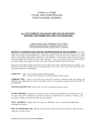 Residential Landlord Tenant Eviction Notice Form By Ere72906