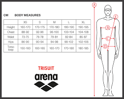Arena Carbon Ultra Size Chart Sizing Charts Arena Swimwear