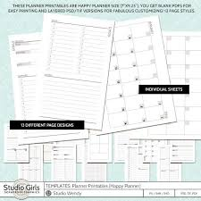 Templates Planner Printables Happy Planner The Psd Tif Versions