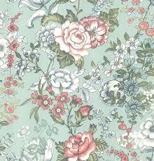 Aquamarine Floral Wallpaper (Page 1 ...