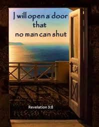 prayer lord we thank you for the open doors of opportunity help us to never go back through the doors you have closed