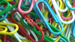 Paper Clips Multi Colored Office Supplies Stock Footage L L L L L L
