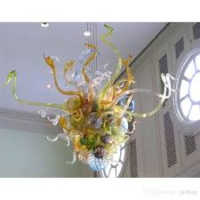 chihuly glass chandelier fl pearls hand blown glass chandelier pendant light bring refreshing feel of spring