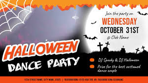Halloween Dance Flyer Templates Halloween Dance Horizontal Digital Display Video