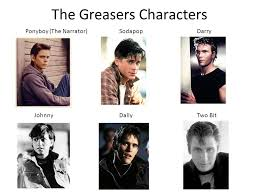 5 the s characters ponyboy the narrator sodapopdarry johnnydallytwo bit