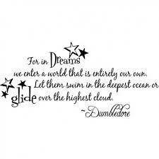 Harry Potter Dreams Quote Best of DUMBLEDORE Harry Potter Art Print Quote 24x24 Nursery Art 2424