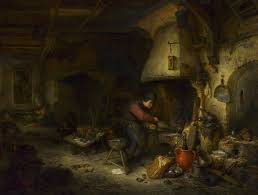 francois marius granet the alchemist art blart the alchemist 1661