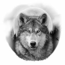 Realistic Wolf Designs Black And Grey Realistic Wolf Wolf Moon Tattoo Wolf