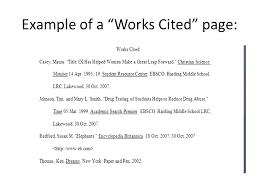 How To Make Work Cited Page 10 11 Works Cited Page Mla Example Durrancesports Com
