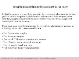 Admin Cover Letters Office Administrator Cover Letter Samples