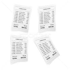 Bill Receipt Awesome Sales Printed Receipt White Paper Blank Vector Shop Reciept Or Bill
