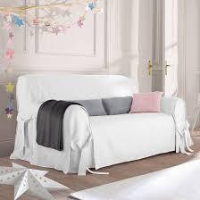 other image jimi linen cotton sofa cover la redoute interieurs