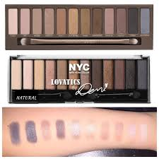 palette dupe alert nyc new york color lovatics by demi eye shadow kit pact