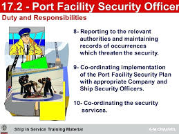 security officer duties and responsibilities security officers responsibilities port facility security officer