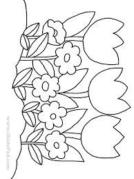 Small Picture row of tulip flowers coloring pages for kids Coloring Pages