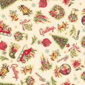 vintage christmas wallpaper. Unique Vintage Retro Christmas Decals And Vintage Wallpaper M
