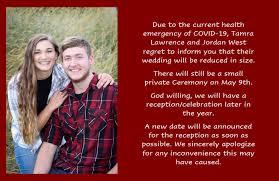 Tamra Lawrence and Jordan West's Wedding Website