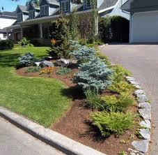Landscaping Ideas With Rocks Corner Fence Driveway Landscaping Ideas Stone  Border Along Driveway Surrounding Flower Bed