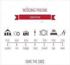Wedding Schedule Free Wedding Timeline Template Rome Fontanacountryinn Com