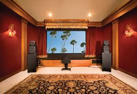 cool home lighting. Home Theater Showing Large Lcd On The Wall And Red Curtains Added By Cool Lighting G
