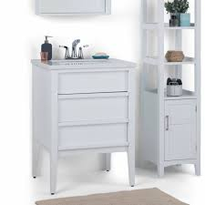 wyndenhall dustin 24 inch modern bath vanity in white with white 25 inch wide for