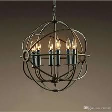 elegant rustic orb chandelier or rh lighting restoration hardware vintage pendant lamp foucaults iron orb chandelier