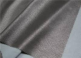 imitation flocking polyurethane leather fabric 0 7 mm thickness for jacket