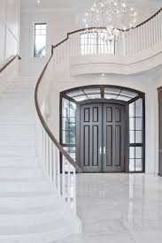 white double front door. Curved Staircase Entry Decorating Traditional With Double Front Door White M