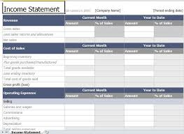 excel income statement income statement template excel excel templates pinterest