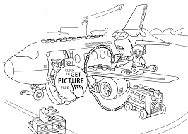 Small Picture Lego Airport coloring page for kids printable free Lego Duplo