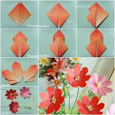 How To Make A Beautiful Flower With Paper How To Make Beautiful Paper Origami Flower Fab Art Diy Tutorials