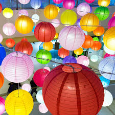 Us 10 81 31 Off 10pcs Lot 6 16inch White Chinese Paper Lantern Lights Colorful Led Paper Ball Lampion Festival Wedding Party Decoration In Lanterns