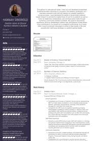 Dietetic Intern Resume Samples Visualcv Resume Samples Database
