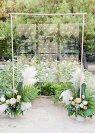 Wedding Seating Chart Acrylic 10 Chic Ideas To Display Your Wedding Seating Chart Escort
