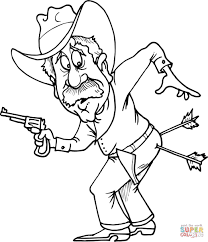Cowboy With Two Arrows In Butt Coloring Page Free Printable