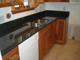 Dark Granite Kitchen Black Granite Countertops Kitchen With Brown Cabinets And Light