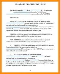 Standard Commercial Lease Agreement Simple Commercial Lease Agreement Smart Contemporary Pictures