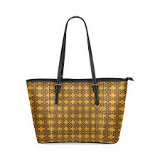 amber and mocha tile work leather tote bag small model 1640 id d722639