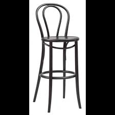 Ton <b>Bar Stool</b> 18 in Stained <b>Bent</b> Wood