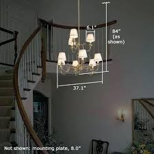 foyer chandelier height how to change a chandelier in a two story foyer chandelier height two