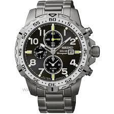 men s seiko alarm chronograph solar powered watch ssc307p9 mens seiko alarm chronograph solar powered watch ssc307p9
