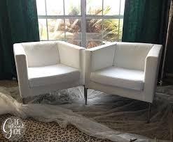white chairs ikea ikea. DIY Ikea Hack Cream And Black Club Chairs White