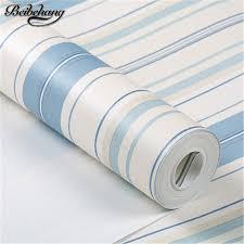 Beibehang Mittelmeer Blau Weiß Rosa Gestreiften Vliesstoffe Tapete Jungen  Mädchen Schlafzimmer Kinderzimmer Grün Tapeten Papel De