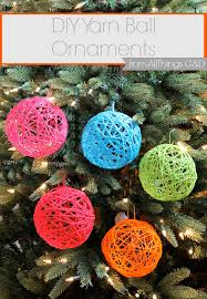 Make Decorative String Balls Adorable Yarn Ball Ornaments All Things GD