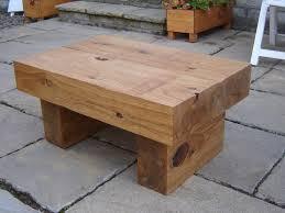 alison s coffee table with new oak railway sleepers