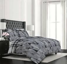 egyptian cotton 4 piece grey geometric duvet covers