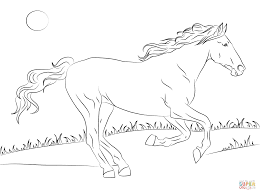 Mustang Horse Coloring Pages Http Designkids